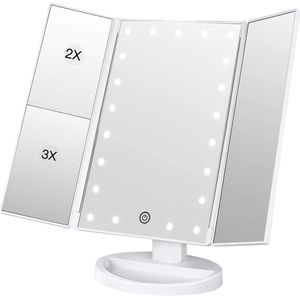 Light-up Fold-up Makeup Mirror with Magnification